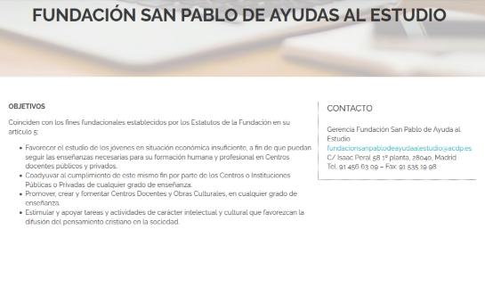 fundación san pablo ayuda al estudio
